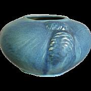 Van Briggle Pottery Bowl #762 w/Pine Cones, Blue, c. 1929