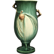 "Roseville Pottery PineCone Vase #840-7"", Green, Ca. 1936"