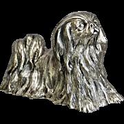 Sterling Silver Pekingese Figural Paperweight