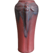 Van Briggle Pottery Dragonfly Vase #792, Mulberry, Circa 1927