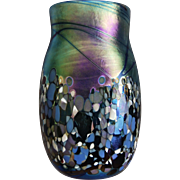 "Elaine Hyde Art Glass ""Confetti"" Vase, 1989"