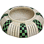 Longwy Faience Enameled Bowl, c. 1920