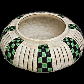 Longwy Faience Enameled Bowl, c. 1920