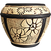Weller Pottery Claywood Floral Pot, c 1910