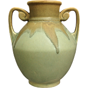 "Roseville Pottery Carnelian Vase #311-7"", Green, Ca. 1926"