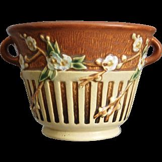"Roseville Pottery Cherry Blossom Bowl #239-5"", Brown, Circa 1933"