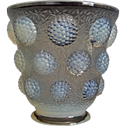 """Verlys """"Les Cabochons"""" Vase, Opalescent, Ca. 1937"""