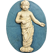 Monumental Rookwood Faience Figural Medallion, c. 1910