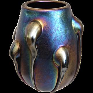 Robert Barber Iridescent Glass Vase, 1973