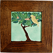 "Motawi Tileworks 6"" Berry Tree Framed Tile"