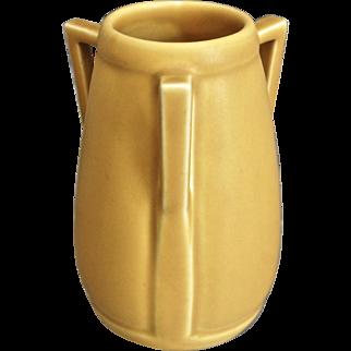 Rookwood Pottery Tri-handle Vase #2330, Yellow Mat, 1927