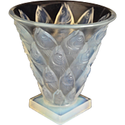 "Sabino ""Poissons"" Vase, Opalescent Crystal"