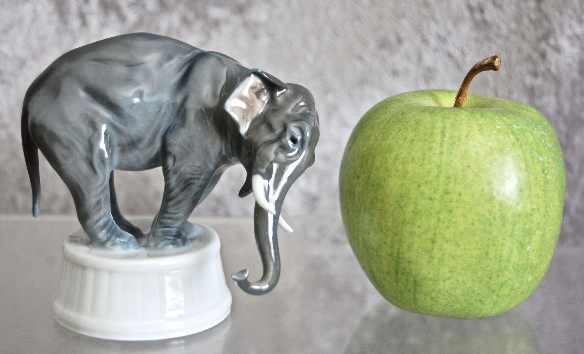 Rosenthal Porcelain Elephant Figurine 1929 From