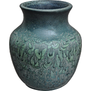 Hampshire Pottery Vase #121, Blue Matt, c. 1915
