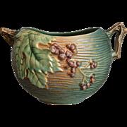 "Roseville Pottery Bushberry Rose Bowl #411-4"", Green, c. 1941"