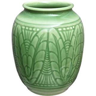 Rookwood Pottery Production Vase #6631, Green, 1938