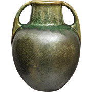 Fulper Pottery Vase #643, Green Crystalline, Ca. 1925