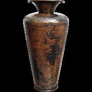 """Hammered Copper Plate 12"""" Vase"""