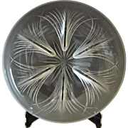 Verlys Tassel Bowl, Crystal Etched, Ca. 1943