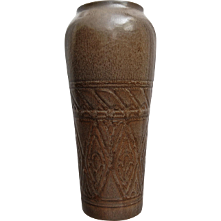 Large Rookwood Pottery Production Vase #2892, Brown Mat, 1926