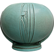 "Roseville Pottery Moderne Rose Bowl #299-6"", Turquoise, Circa 1936"