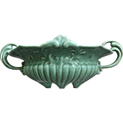 Camark Pottery Footed Bowl, Green, Ca. 1935