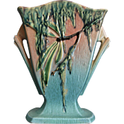 "Roseville Pottery Moss Pillow Vase #778-7"", Pink, Ca. 1936"