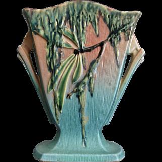 "Roseville Pottery Moss Pillow Vase #778-7"", Pink, Ca. 1936"