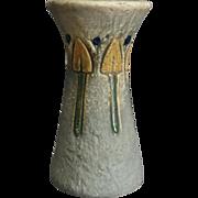 """Roseville Mostique vase #164-6"""", Gray, Ca. 1925"""