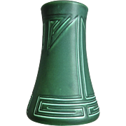 Large Rookwood Pottery Incised Mat Vase, Green, 1903