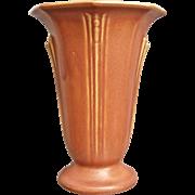 "Roseville Pottery Russco Vase #694-7"", Salmon, Ca. 1934"
