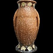 "Roseville Pottery Ferella Vase #507-9"", Tan, Ca. 1930"
