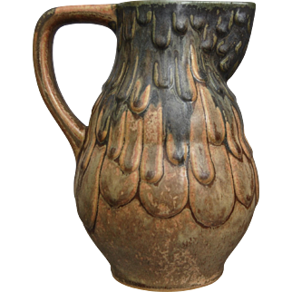 Denbac Pottery Pitcher #412, Circa 1935