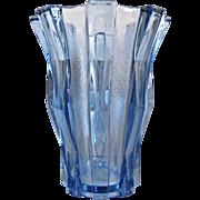 Large Stolzle Bohemia Modernist Vase, Ca. 1935