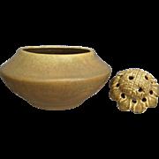 Van Briggle Pottery Bowl #268B w/Frog, 1915