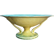 "Roseville Pottery Orian Bowl #272-10"", Yellow, Ca. 1935"