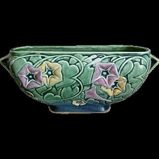 """Roseville Pottery Morning Glory Bowl #271-10"""", Green, 1935"""
