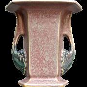 """Roseville Pottery Tuscany Vase #71-6"""", Pink, Ca. 1927"""
