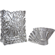 Rosenthal Studio Line Crystal Vase & Votive Set