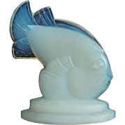 "Sabino Fish Figurine, ""Poisson St. George"", Opalescent Crystal"