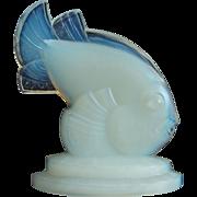 "Sabino Fish Figurine, ""Poisson St. George"", Opalescent Crystal"