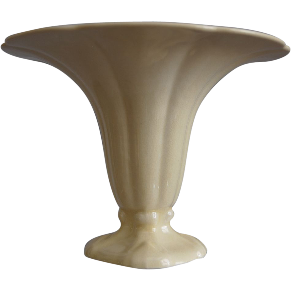 "Cowan Pottery ""Morning Glory"" Vase Ca. 1927, Ivory"