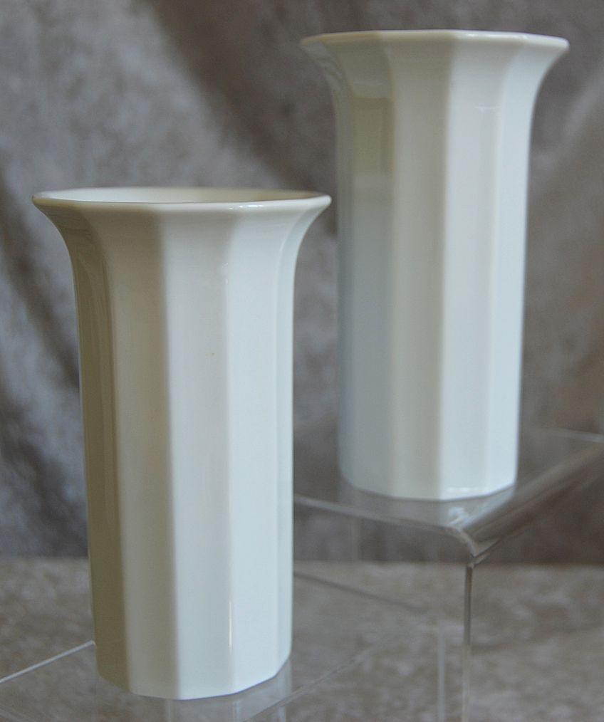 "Rosenthal Studio Line ""Polygon"" Vase Pair, Circa 1980"