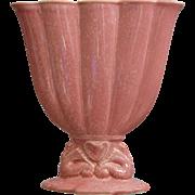 "Cowan Pottery 7"" Seahorse Fan Vase Ca. 1926, Apple Blossom Pink"