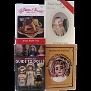 4 Books on Vintage Dolls, Steiff  and Toys