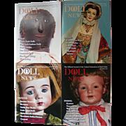"4 Vintage Copies of UFDC ""Doll News"" magazine"