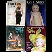 "4 Vintage UFDC ""Doll News"" magazines"