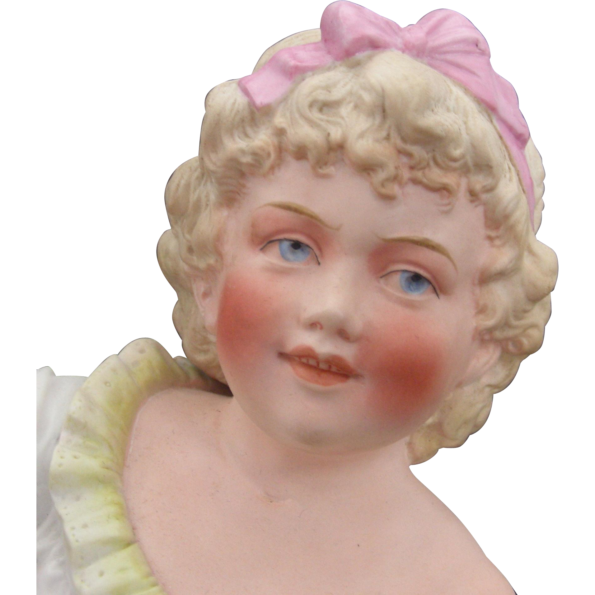 Gorgeous Hertwig Antique  Reclining Child Figurine