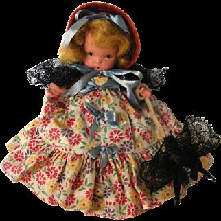 "Vintage Nancy Ann Storybook Doll ""Western Miss"" in box MSMB with sticker"