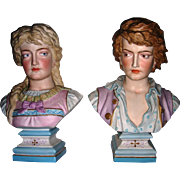 Large German  Busts Pair